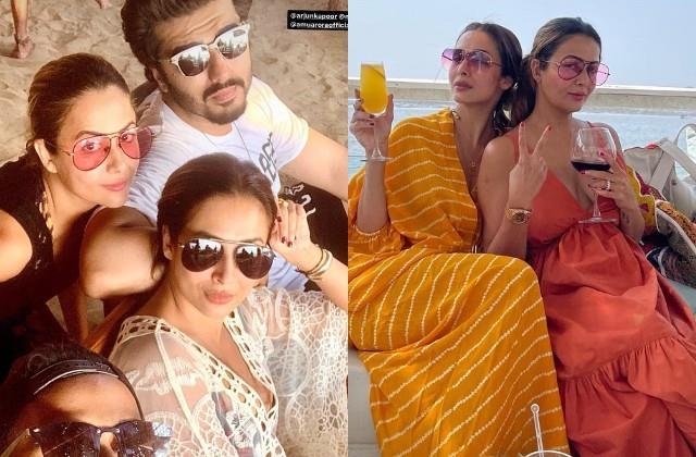 malaika arora and arjun kapoor enjoy vacation at goa with friends