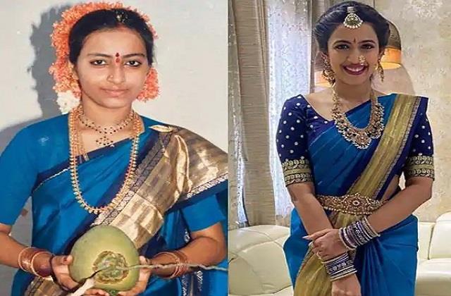 niharika konidela wore her mother saree in pre wedding functions