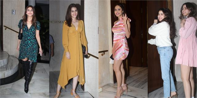 nushrat bharucha to kriti sanon reached manish malhotra house for new year party