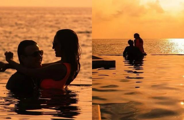 vivek oberoi spending time with family in maldives