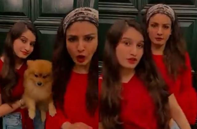 raveena make video with daughter on shehnaz twada kutta tommy dialogue