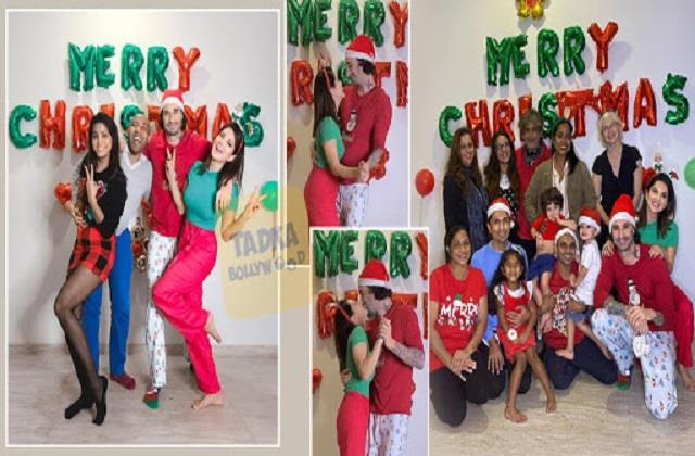 sunny leone celebrated christmas with family and friends