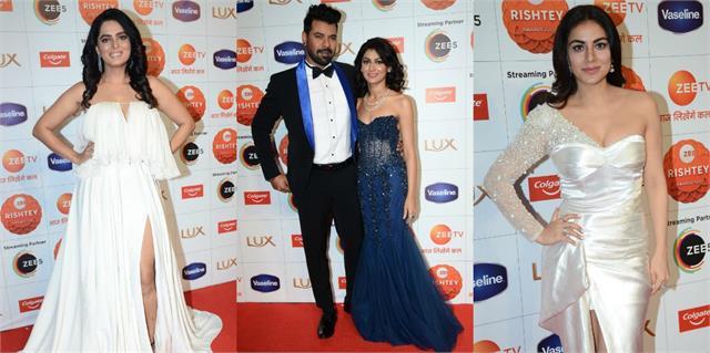 zee rishtey awards 2020 sriti jha shabir shraddha and others looking gorgeous