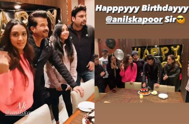 anil kapoor celebrates his 64th birthday with team of  jug jugg jeeyo