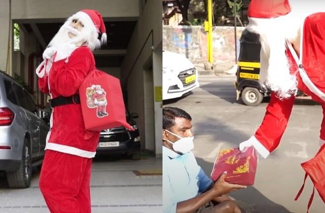 zareen khan turns santa and celebrates chritsmas with poor people