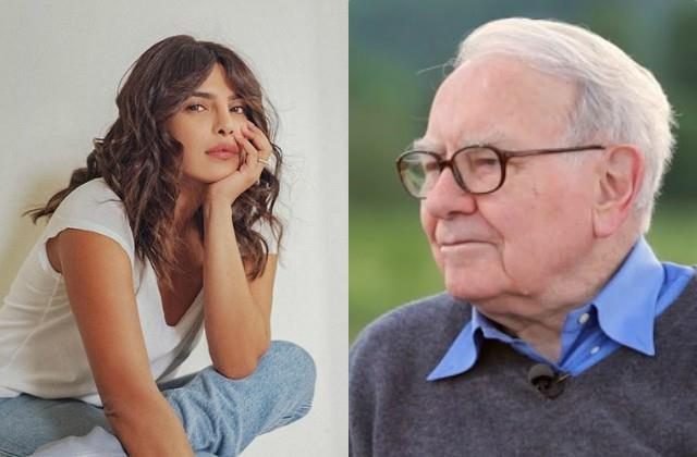 priyanka chopra felicitate warren buffett with global citizen prize