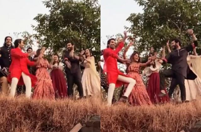 surbhi chandna dance with naagin 5 co stars sharad mohit and team