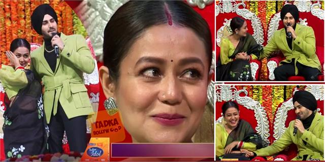 neha kakkar gets emotional after seeing hubby rohanpreet singh at indian idol 12