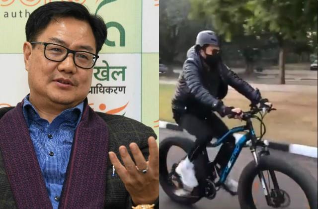 anil kapoor share his cycling video kiren rijiju praised