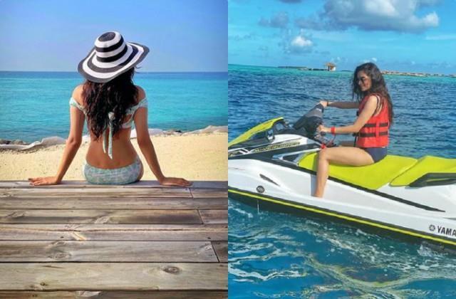 manushi chhillar share her bold photos from maldives