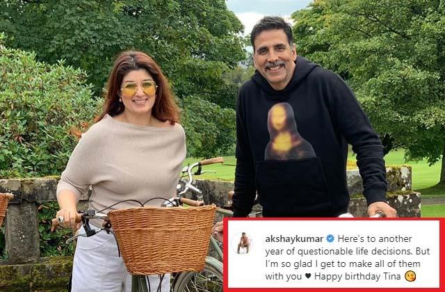 akshay kumar sweet birthday post for wife twinkle khanna