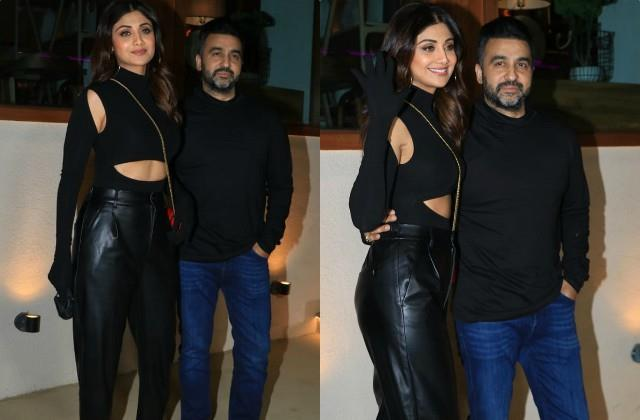 shilpa shetty spotted restaurant outside with husband raj kundra