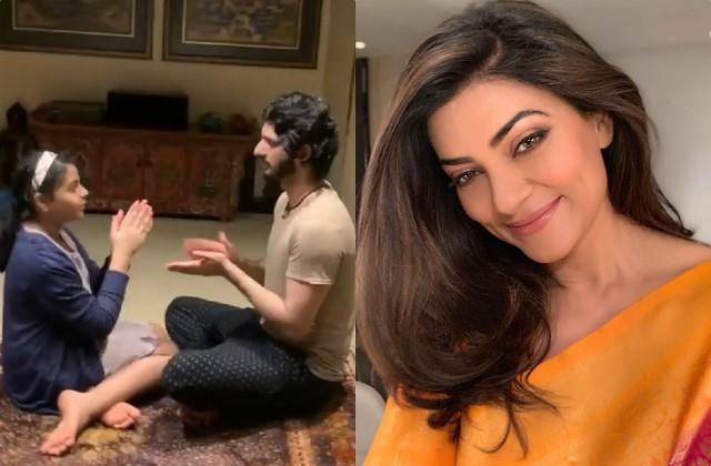 sushmita sen shares game video of daughter alisah and boyfriend rohman shawl