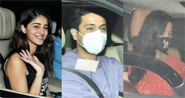 katrina kaif ananya panday vicky kaushal join karan johar at his house party
