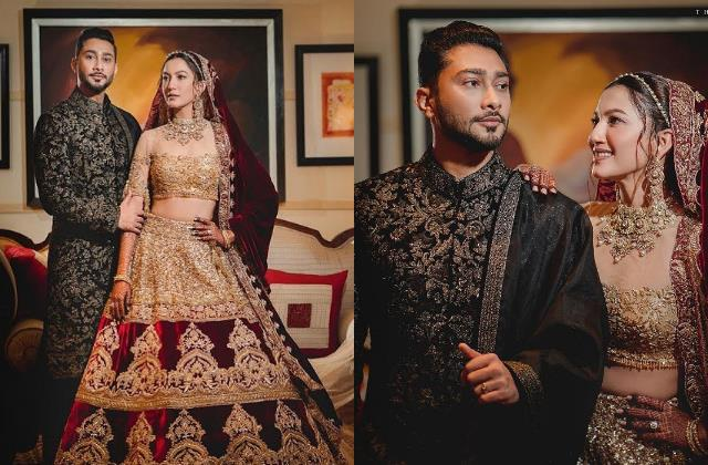 gauahar khan share beautiful picture with zaid from their wedding reception