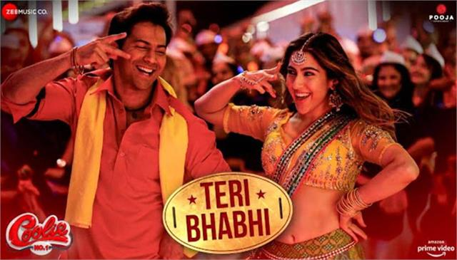 wait finished coolie no1 s song teri bhabhi released