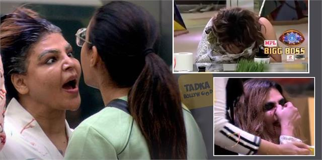 rakhi sawant nose broken due to jasmin bhasin husband ritesh got angry