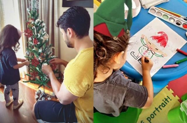 soha and kunal daughter inaya started preparation for christmas