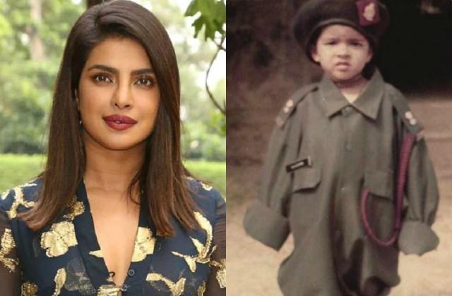 प्रियंका ने शेयर की पापा की आर्मी यूनिफॉर्म में बचपन की तस्वीर, लिखा-मैं हमेशा उन्हीं की तरह बनना चाहती थी