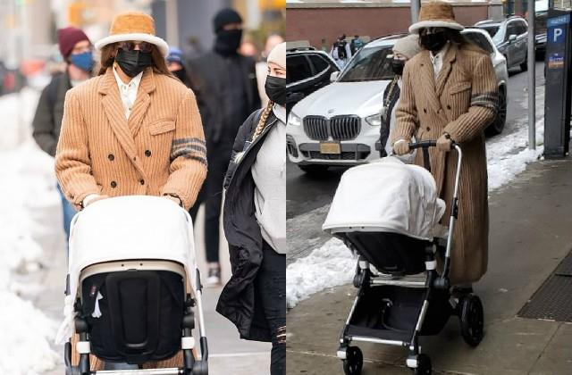 gigi hadid spotted with 3 month baby daughter