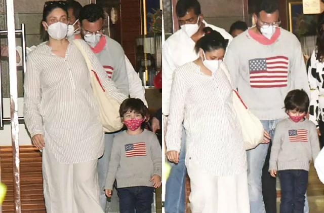 kareena kapoor returns to mumbai with husband saif and son taimur