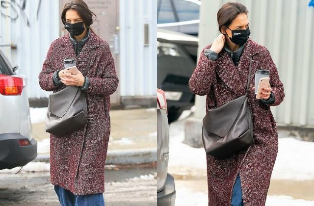 katie holmes spotted on new york streets