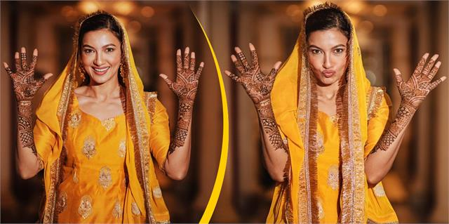 gauhar khan shares her mehndi ceremony photos