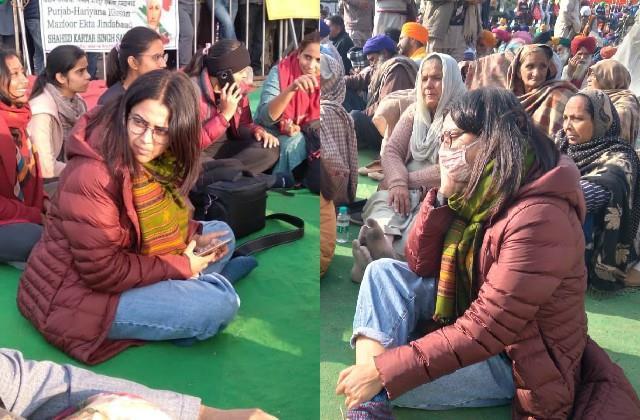 swara bhaskar reached singhu border in support of farmer