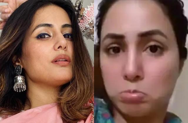hina khan injured in hand