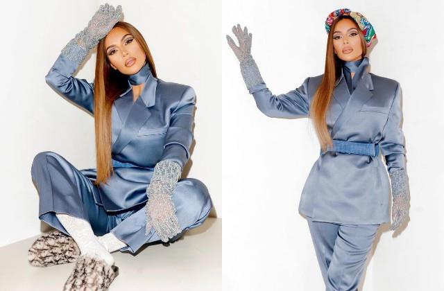 kim kardashian looked stunning in pant coat