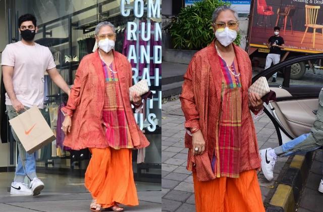 jaya bachchan goes shopping with grandson agastya nanda