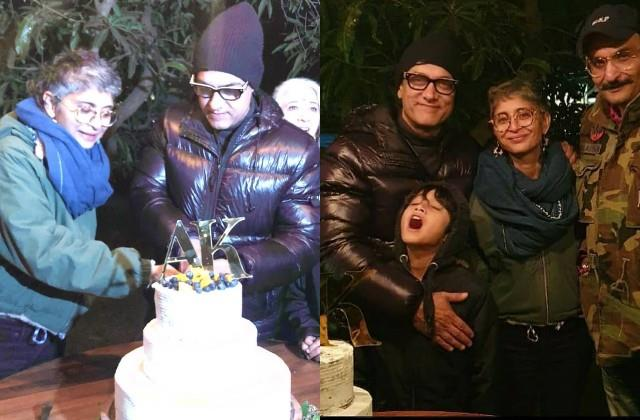 aamir khan and kiran rao anniversary celebration photos viral