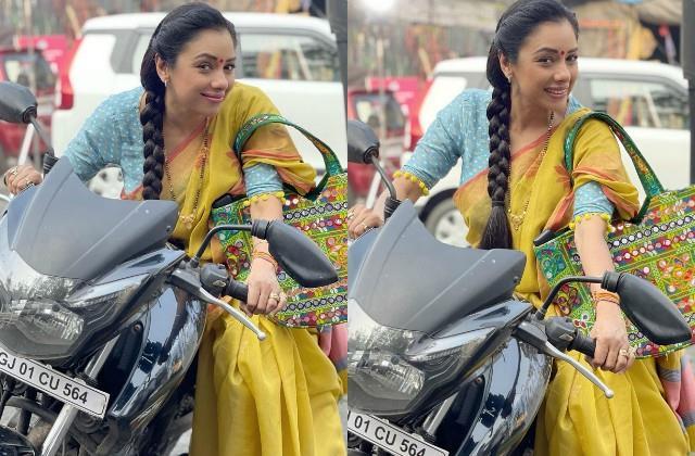 anupamaa fame rupali ganguly shares her bike photos