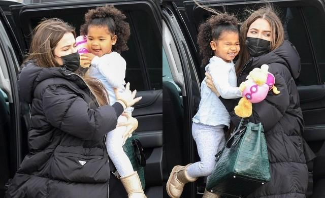 khloe kardashian spotted with her daughter