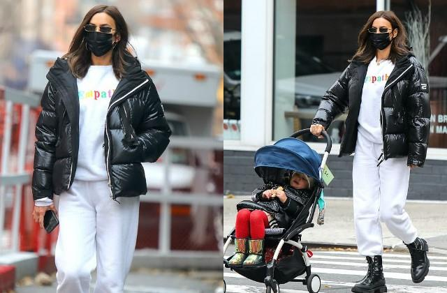 irina shayk spotted with her daughter