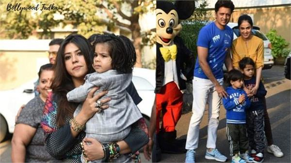 ekta kapoor with her son in bday party