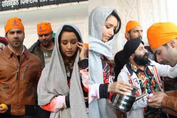 varun dhawan shraddha kapoor seek blessing gurudwara bangla sahib