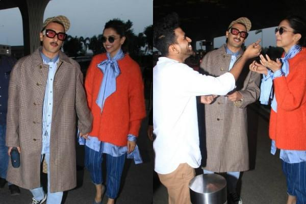 birthday girl deepika padukone spotted at airport with hubby ranveer singh