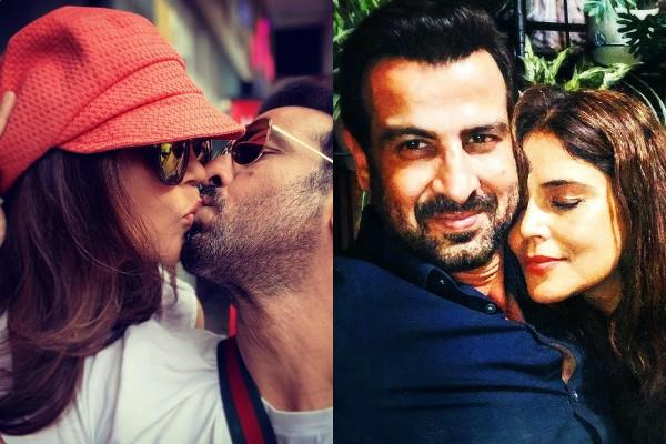 54 years old actor ronit roy liplock with wife neelam singh