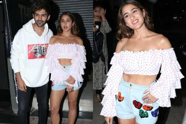 kartik aaryan sara ali khan spotted together after dance practice