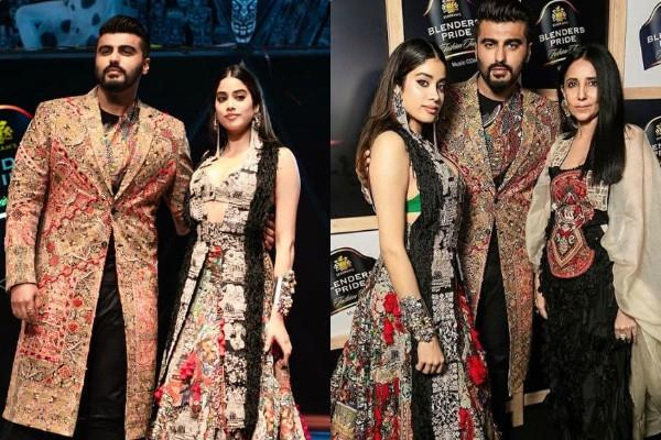 janhvi kapoor ramp walk with step brother arjun kapoor