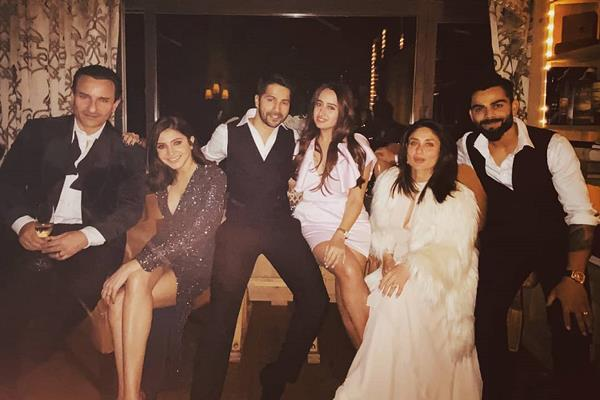 anushka virat varun dhawan celebrate new year 2020 with kareena and saif