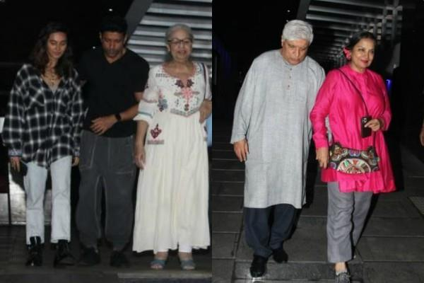 amidst marriage rumours farhan and shibani spotted at family dinner date