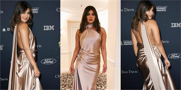 priyanka chopra flaunts her killer figure at grammy awards show
