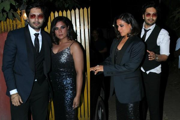 richa chadda attend javed akhtar birthday party with boyfriend ali fazal