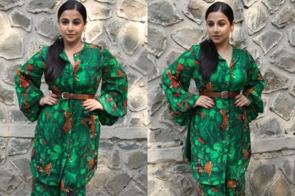 vidya balan spotted at iit event mumbai