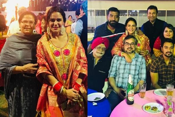 mona singh celebrate first lohri with family after wedding