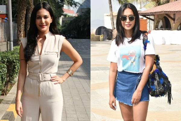 amyra dastur and sayani gupta spotted at bandra