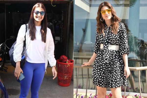 pooja hegde and kriti sanon spotted at bandra