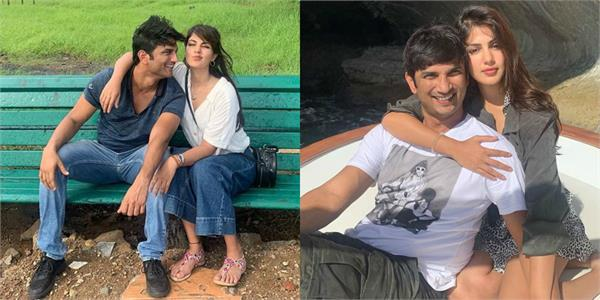 rhea chakraborty wishes to sushant singh with unseen pictures